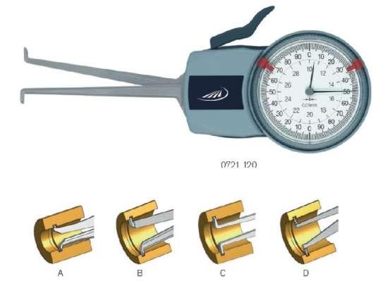 Ceasuri comparatoare cu palpatori pentru masurare interior-exterior